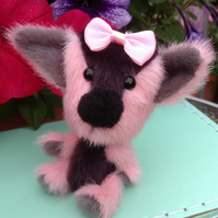 OOAK, miniature, artist bear, puppy, Botany Bears