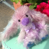 OOAK, artist bear, Bunny, multi coloured, mohair, Botany Bears