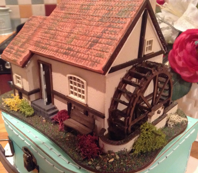 One forty eighth, watermill,dolls house,miniature