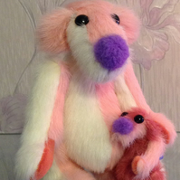 OOAK, artist bears, Mother and Baby, Botany Bears