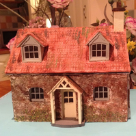 1:48, dolls house, miniature, rustic cottage