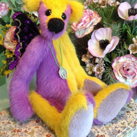 OOAK artist bear, Butterfly fairy bear, Botany bear, Enchanted