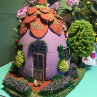 OOAK, Fantasy, Fairy, Cottage, 48th, quarter scale, Dolls house
