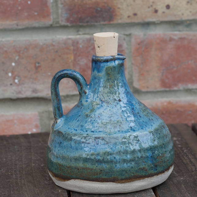 Stoneware bottle.