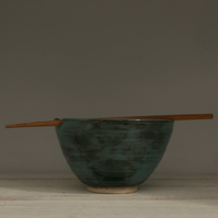 Hand thrown Ceramic Rice or Noodle bowl