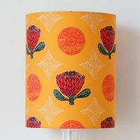 Orange Protea Flower Handmade Standing Lampshade