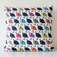 Vintage colour Guineafowl Handmade Cushion Cover
