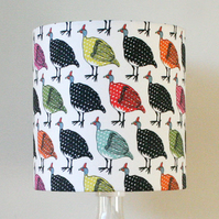 Colourful Guineafowl Handmade Standing Lampshade