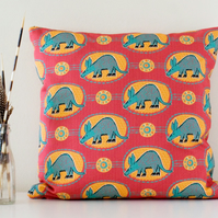 Arty Aardvark Handmade Cushion Cover
