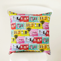 Colourful Cape Town Happy Houses Handmade Cushion Cover