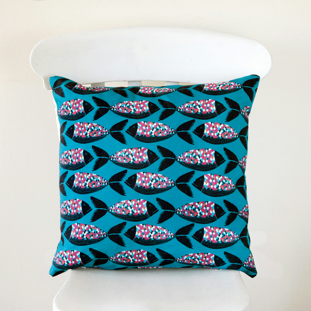 Colourful Scallop Fish Handmade Cushion Cover