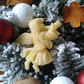Handmade Christmas decorations. Pure Natural Bee wax. Set of 3 Lovely Angels.