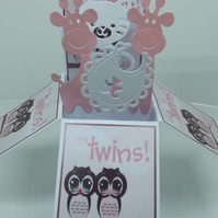 Twin Baby Girls Card