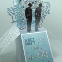 Mr & Mr Wedding Day Card