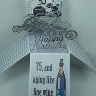 Mens 75th Birthday Card