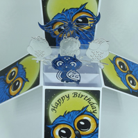 Birthday Card with Owls