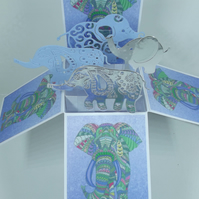 Birthday Card with Elephants