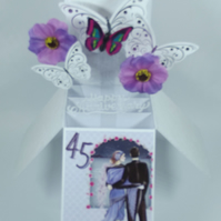 45th  Wedding Anniversary Card