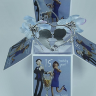 15th Crystal Wedding Anniversary Card