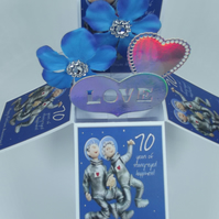 70th  Wedding Anniversary Card