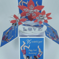 35th Coral Wedding Anniversary Card