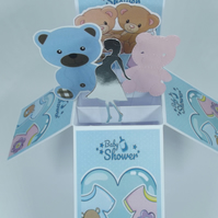 Baby Shower Card for boy and girl twins