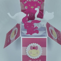 New Baby Card For A Girl