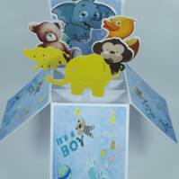 New Baby Card For A Boy