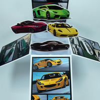 Mens Birthday Card With Cars
