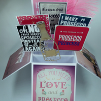 Ladies Birthday Card With Posecco