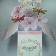 Ladies Birthday Card with Dragonflies