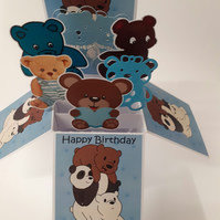 Boys 2nd Birthday Card with Bears