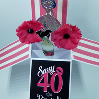 Ladies 40th Birthday Card