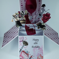 Girls 18th Birthday Card