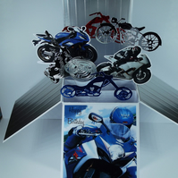 Birthday Card with Motorbikes