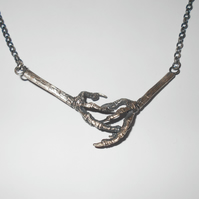 Sterling Silver Bird Claw Necklace