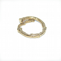 Gold Vermeil Twig Ring