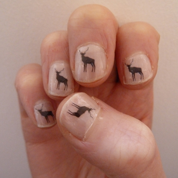 deer nail art stickers