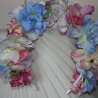 Floral headband, floral wedding wreath, flowergirl wreath, wedding flowers
