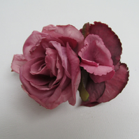 Pink rose hair clip, rose and hydgrangea small fascinator, wedding hair clip