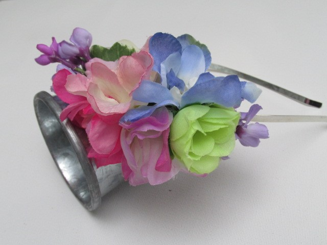 Floral fascinator, pastel flower headband, wedding hair band, bridesmaid
