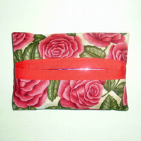 Pocket tissue holder - Red Roses