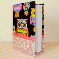 Covered notebook - Bright owls