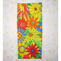 Glasses case - bright yellow floral