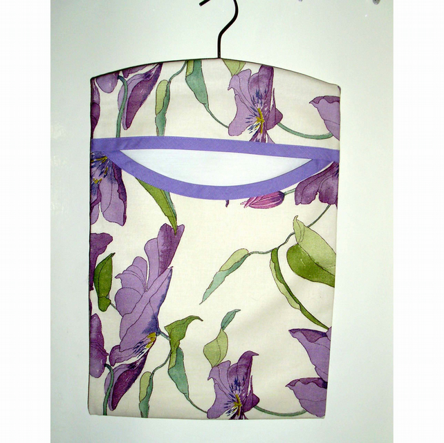 SALE Peg bag - lilac floral