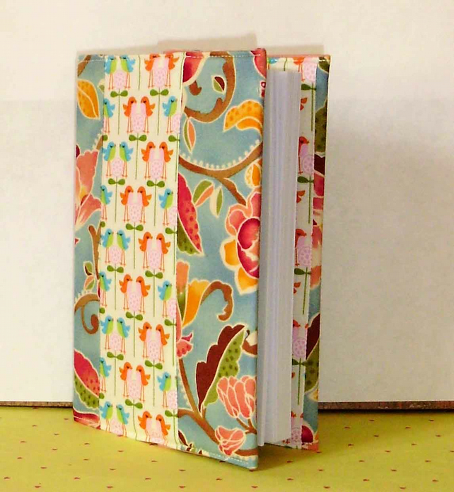 Covered notebook - Birds and Patchwork