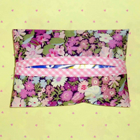 Pocket tissue holders - Liberty print pink