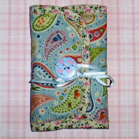 Sewing set or needle case pastel paisley