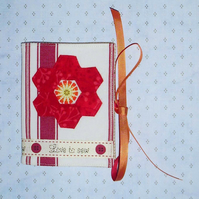 Needlecase - Love to Sew and hexagon patchwork