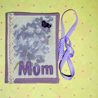 Needlecase - Mum with lace and bird